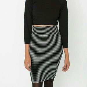 American Apparel Interlock Bodycon Pencil Skirt